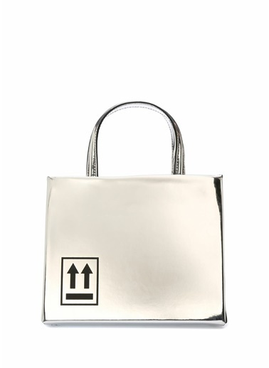 Off-White Messenger / Askılı Çanta Gümüş